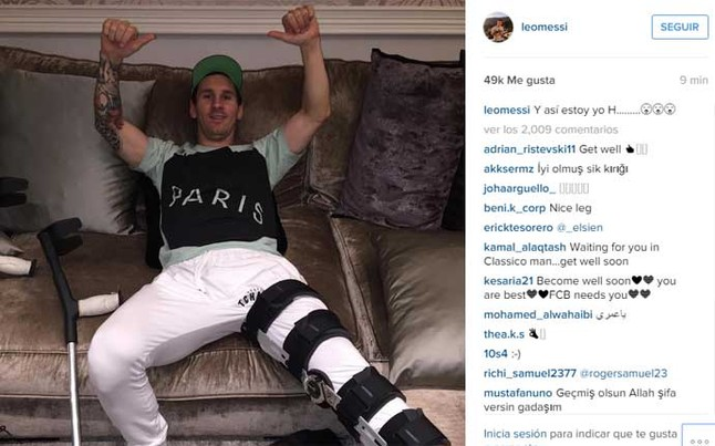 El mensaje de Leo Messi en su cuenta de Instagram Fuente: Instagram