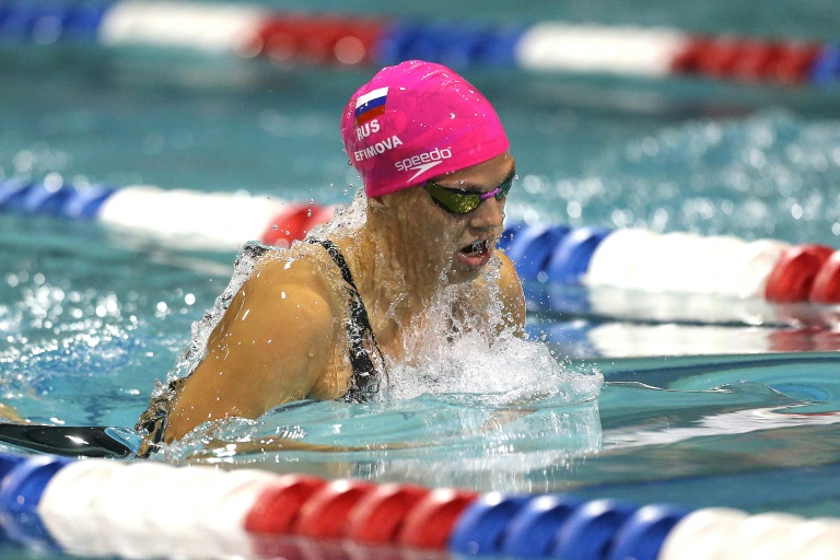 La FINA declara inocente a la nadadora rusa Efimova por consumo de meldonium (agente)