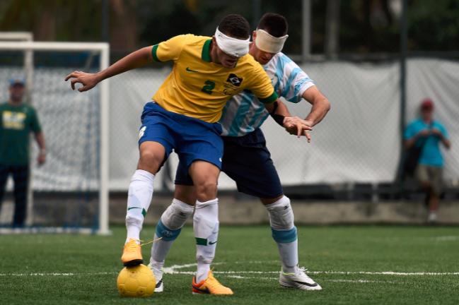 Brasil y Argentina probablemente en enfrentarán nuevamente en el fútbol a 5 de Rio 2016. Foto Rio/Getty