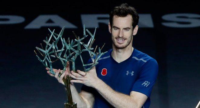 Murray celebra ser # 1 ganando el Masters 1000 de París-Bercy