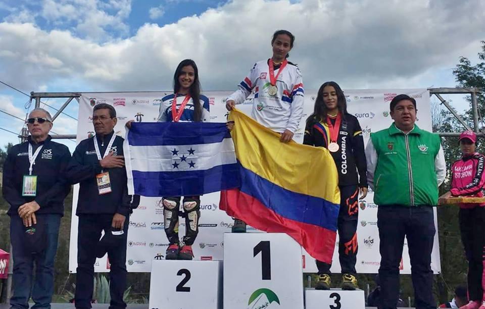 Mariajosé Montoya, plata para Honduras en descenso de montaña en Panamericano