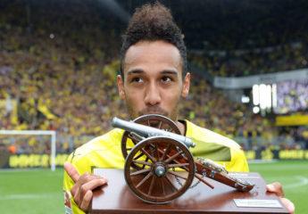 Aubameyang, pega dos veces y es el goleador de la Bundesliga por delante de LewanGolski