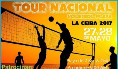 Hoy inicia la segunda parada del Tour Nacional de Voleibol de Playa en La Ceiba