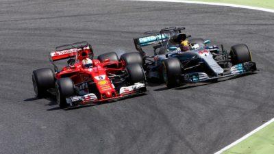 Hamilton vence a Vettel, aún líder de la F1, en Montmeló y se lleva el GP de España