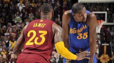 Mañana se inician las finales de NBA con James y Durant como antagonistas