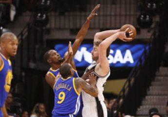 Golden State volvió vapulean a los Spurs y se ponen a un triunfo de la final