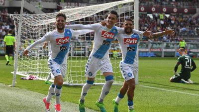 Nápoles golea al Torino en una intensa jornada de la Serie A donde el Milán apenas empata