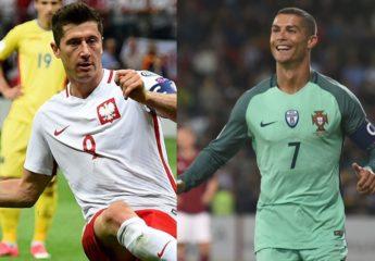 CR y Lewy, goleadores de la clasificación al Mundial en UEFA
