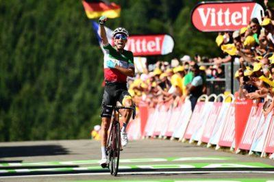 Fabio Aru logró la victoria en la quinta etapa del Tour de Francia