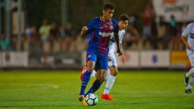 """Debut goleador del """"Choco"""" Lozano en derrota del Barca ante Peralada"""