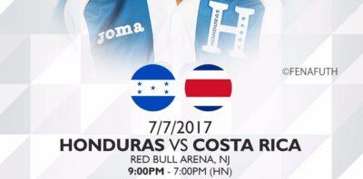 Boniek y Honduras debutan mañana contra Costa Rica en la Copa Oro