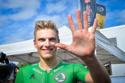 """Marcel Kittel ya tiene su """"manita"""" en el Tour. Nueva victoria del alemán en Pau"""