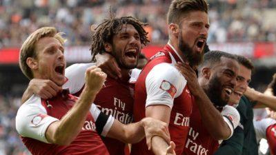 """Le apareció el """"Coco"""" al Chelsea y el Arsenal se llevó la Community Shield"""