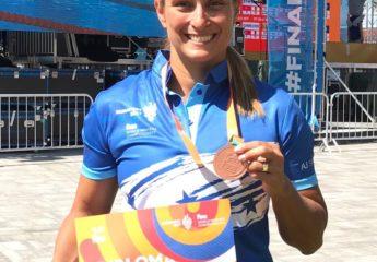 Ni la tendinitis en el hombro impide que Ana Fortín gane bronce en Budapest