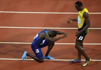 Usain Bolt no pudo con Gatlin que le roba el oro en su despedida