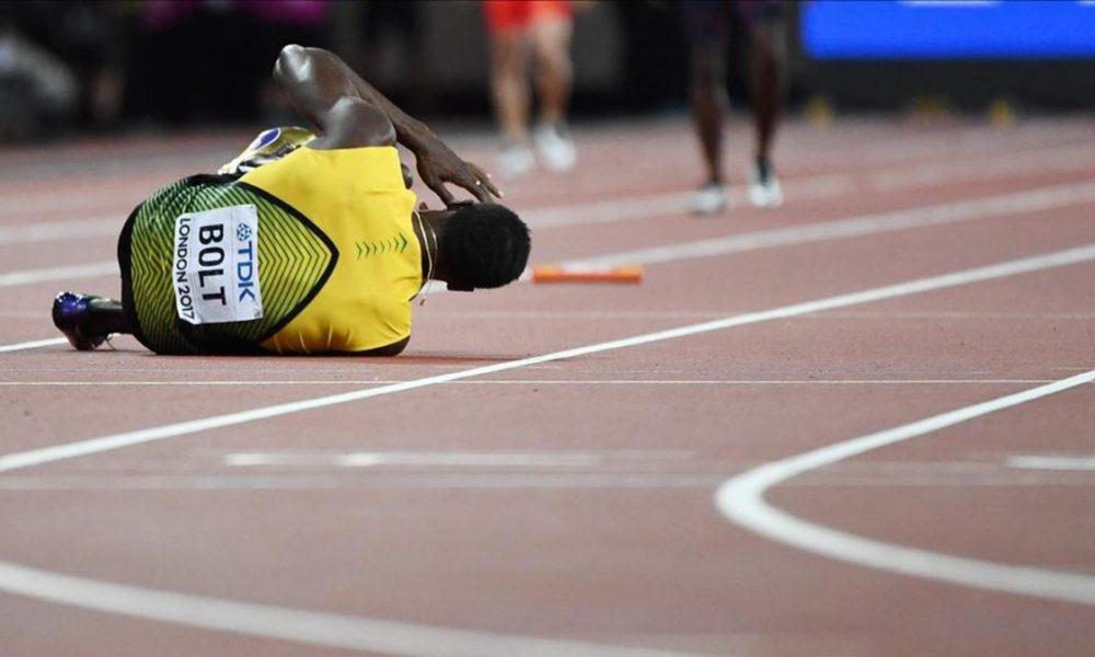 Triste despedida para Usain Bolt en Londres-2017: en el suelo y sin medalla
