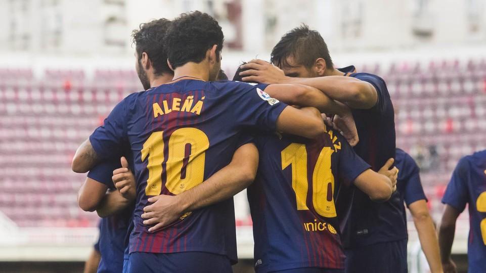 Choco anota gol en el triunfo del Barca B sobre el Córdoba