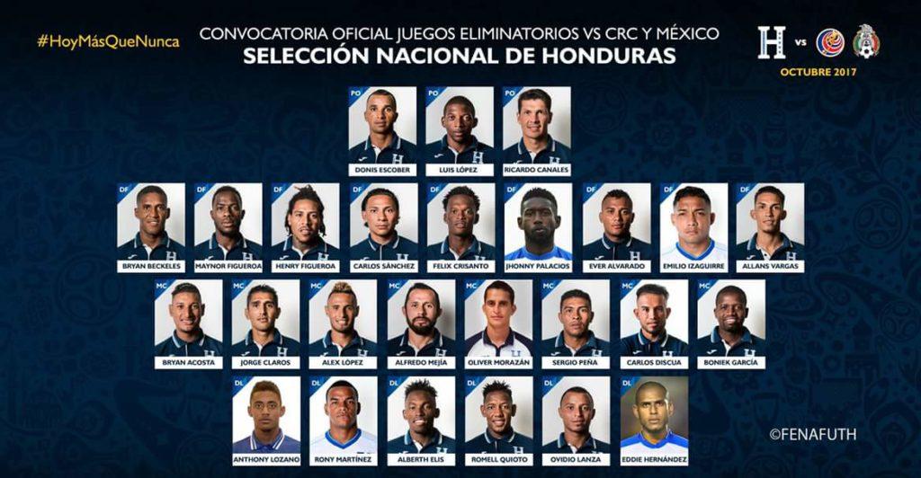 Pinto libera la convocatoria de Honduras para cerrar hexagonal