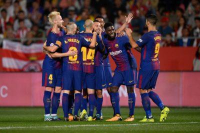 Barcelona gana el derbi catalán al Girona y sigue líder solitario