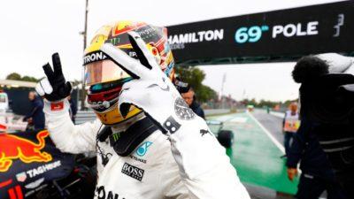 Hamilton logra un nuevo récord en Italia: 69 pole de su carrera