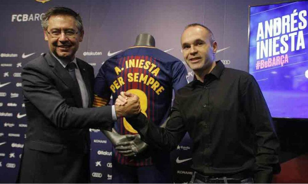 Andrés Iniesta, blaugrana de por vida. Firma contrato vitalicio con el Barca