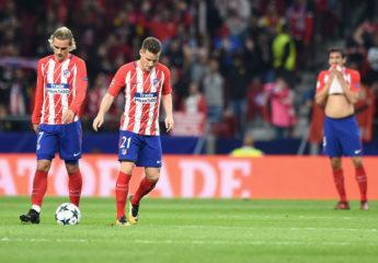 El Atlético al borde de la eliminación en Champions League