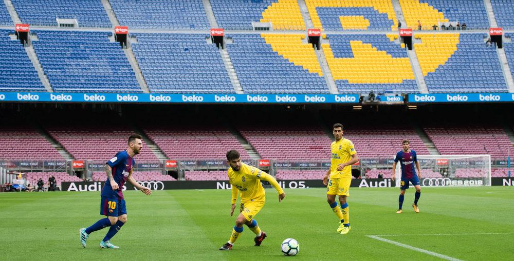 A puerta cerrada, el Barcelona es mega líder de LaLiga al golear a Las Palmas