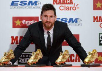 Lionel Messi, Tetra Bota de Oro de Europa