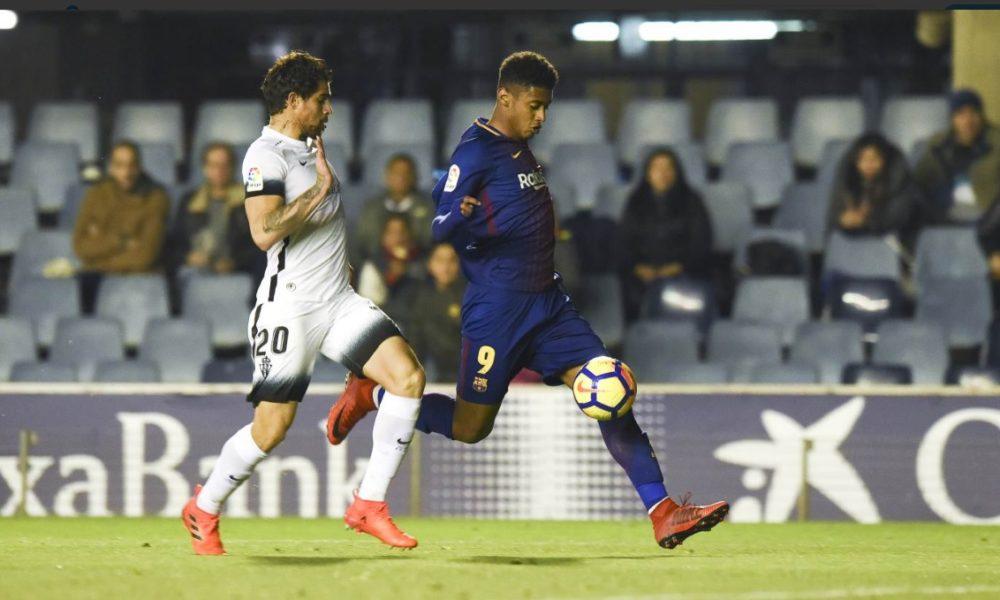 Asistencia de Choco Lozano en el triunfo del Barca B ante Sporting