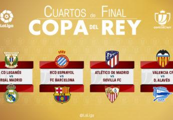 Listas las llaves de cuartos de final de la Copa del Rey en España