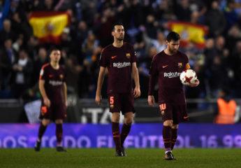 Espanyol da el batacazo al Barcelona de Messi; Valencia saca renta mínima