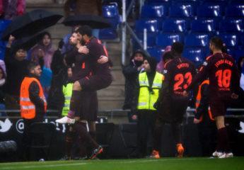 Gerard Piqué rescata al Barcelona ante el Espanyol en Cornellá