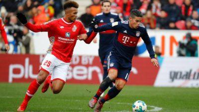 James se luce en triunfo del Bayern en tierras del Maguncia