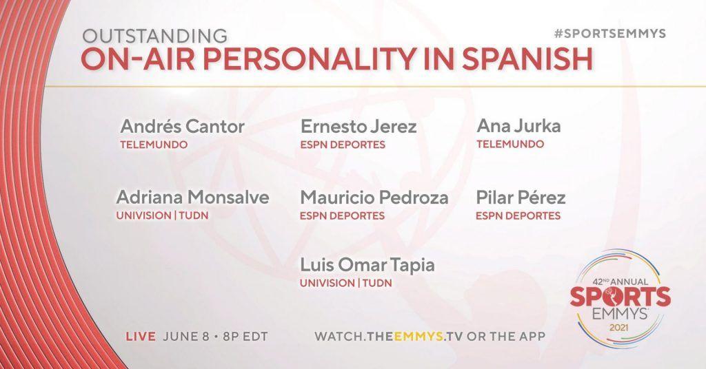 Ana Jurka nominada al premio Emmy 'Personalidad deportiva'